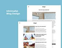 BlogX - Minimalist Blog Design