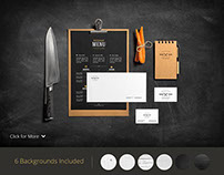 Restaurant & Bar /Stationery Mock-Up
