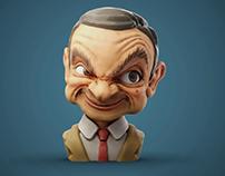 Mr Bean sculpt
