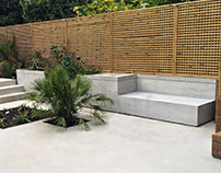 Polished concrete garden furniture - Richmond