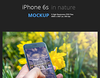 MockUp - iPhone in nature.