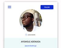 User Profile #DailyUI #006