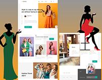 Fashion Lookbook Product Landing Page - UI / UX