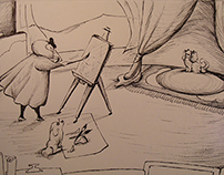 The sleeping painter -drawing animation-