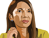 Color Portraits for Financial News Magazine