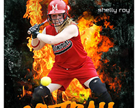 Softball sports photography template
