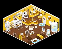 cama café ✕ LINE PLAY   Room Design