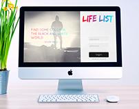 Life List - Website