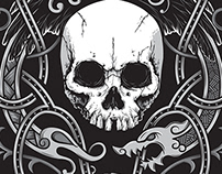 Official Moonsorrow Skull Knot T-Shirt Design