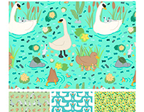 Lovely Lake Birds Repeat Collection
