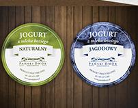 Projekt wieczek na sery oraz jogurty - Pański Dwór