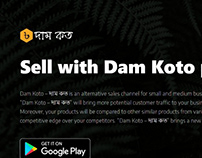 Marketing Landing Page - Dam Koto Platform