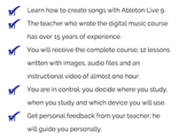 Teacher for an online music production course