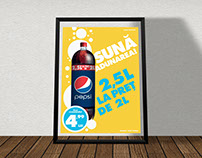 Pepsi promotion in store poster