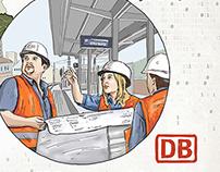Illustrationen für die Deutsche Bahn