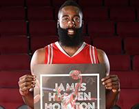 James Harden 3D promotional poster