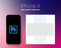 Free iPhone X Parallax Wallpaper Template PSD