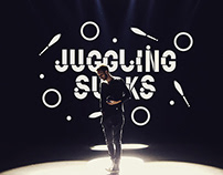 JUGGLING SUCKS // contemporary circus blog logo