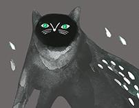 BLACK CAT print for AKHMADULLINA DREAMS