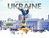 Welcome to Ukraine, travel landing page