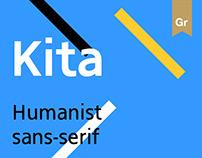 Kita — Humanist sans-serif typeface