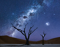 Under the sky of Namibia