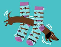 Dachshund Sock design for Ilabu.hu