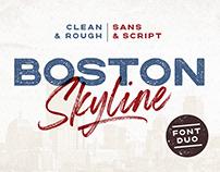 Boston Skyline Font Duo