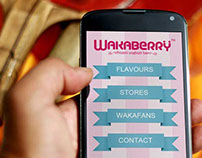 Wakaberry mobile site concept