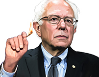 Editorial Illustration Bernie Sanders 2016