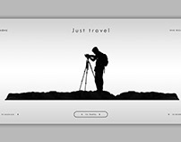 Web page for travel agency