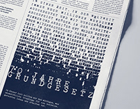 70 years of german constitution // print ad // AGCA