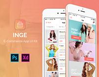 Inge E-Commerce App UI Kit