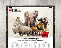 African Animals Calendar 2018