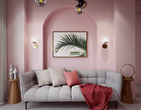 A Patricia Urquiola-inspired Living Room