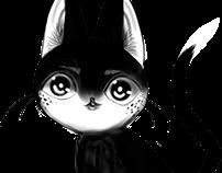 black cat sketch