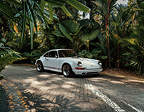 Porsche Singer 964 out and about in Singapore. CGI.