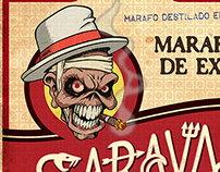 Sarava Metal cachaça label
