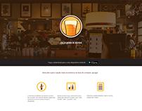 Website redesign of Calculadora de Bebida app.