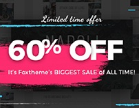 60% OFF - Foxthemes's BIGGEST SALE off ALL TIME!