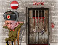 سوريا روسيا بوتين Syria Russia بوتين كاريكاتير كاريكاتو