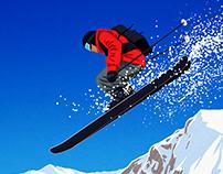 Kirkwood Ski Poster
