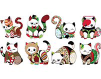Christmas Kitty Plushies