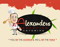 Alexanders Executive Catering l Logo + Business Card