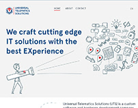 Landing page design and illustrations