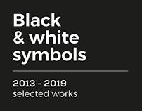 Black & white symbols 2013-2019