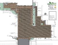 Plan d'un projet de façade résidentiel
