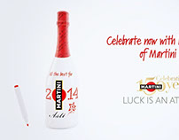 MARTINI Asti Custom Bottle Holiday Campaign
