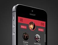 Last.fm UI Concept