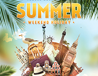 Summer Weekend Holiday Flyer